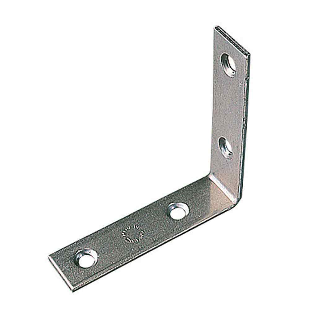 Right Angled Corner Bracket Zinc Plated 40mm.