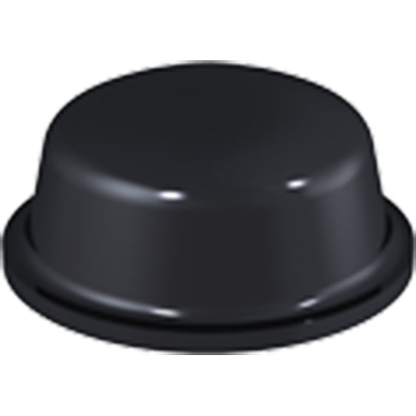 Black Dome Bumpers 11.1 x 5.0mm