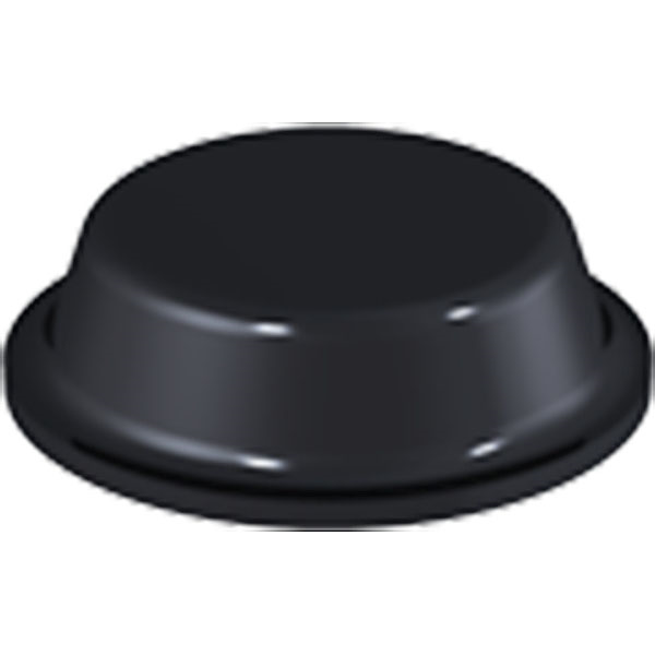Black Flat Bumpers 12.7 x 3.5mm