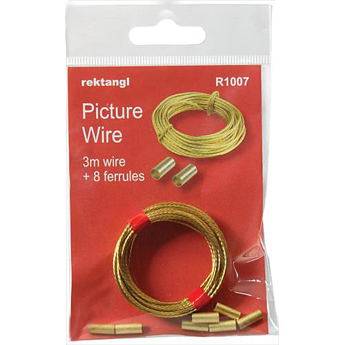 Brass Wire 3m + Wire Crimping Ferrules Pack