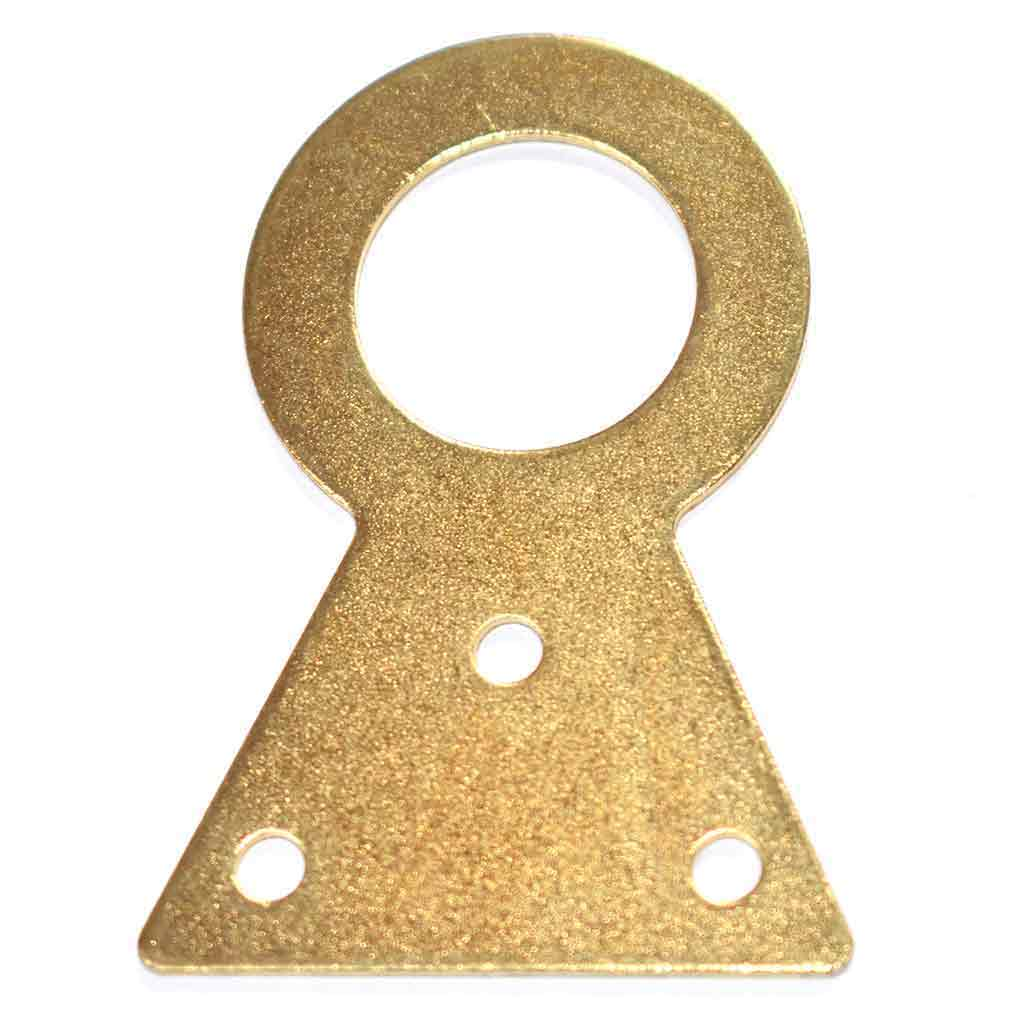 Clock or Barometer Hanging Plate (52mm) - Brass Plated