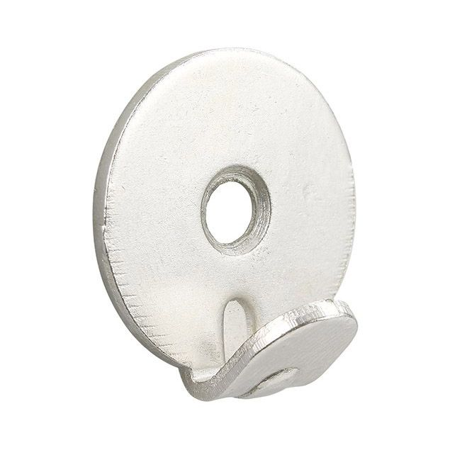 Heavy Duty Wall Hooks - single screw hole, nickel plated