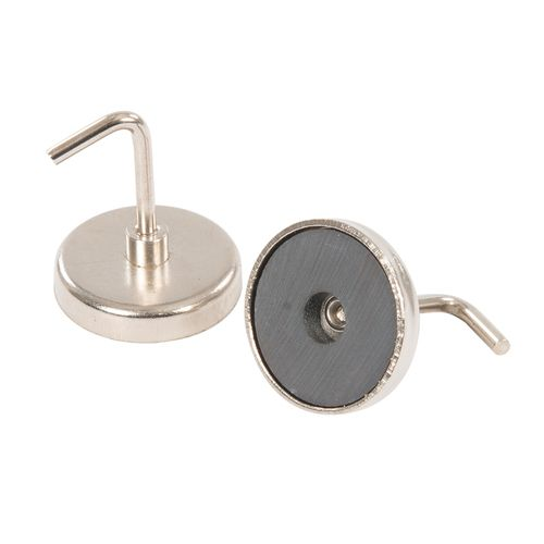 Magnetic Picture Hook, Nickel Plated - Pack of 2