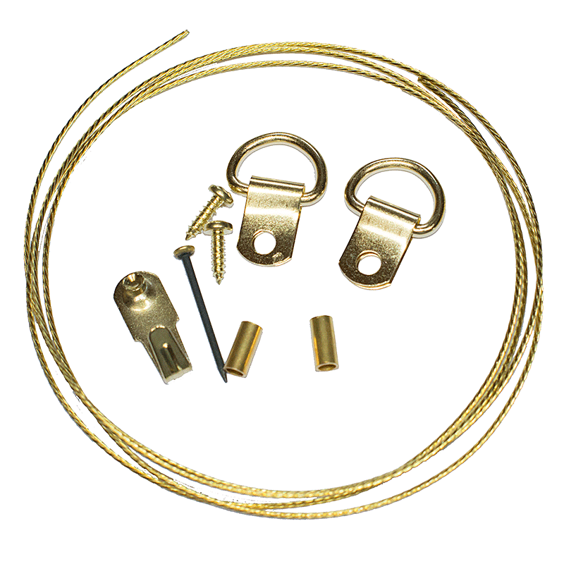 Picture Hanging Kit 1 (Brass Plated)