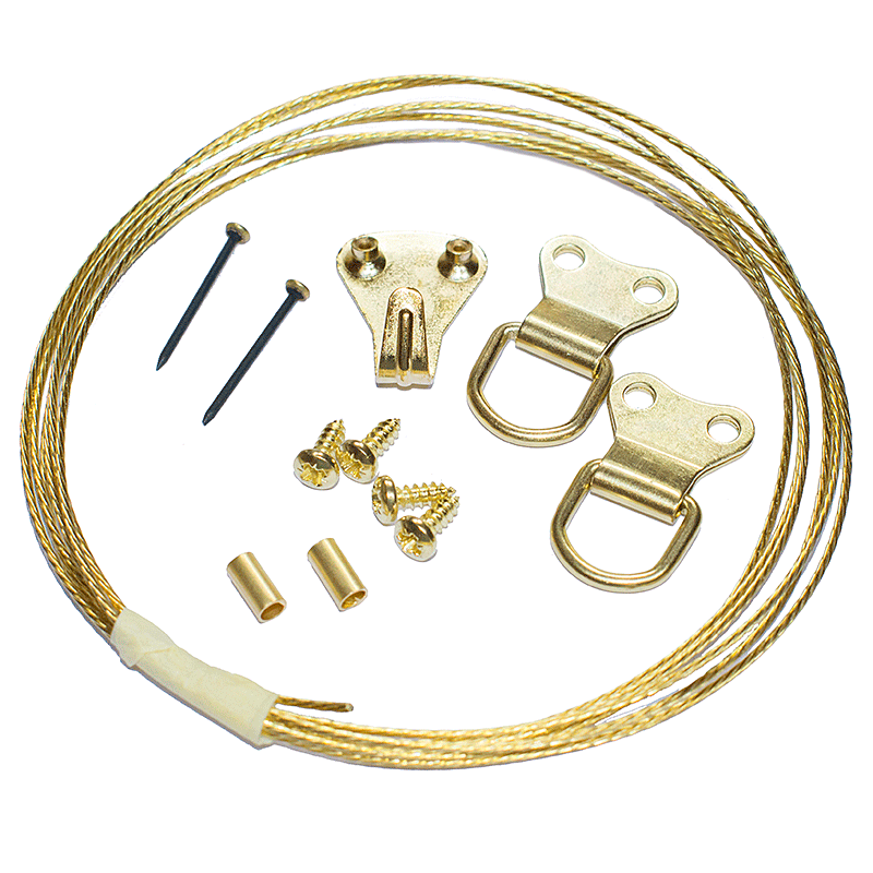 Picture Hanging Kit 2 (Brass Plated)