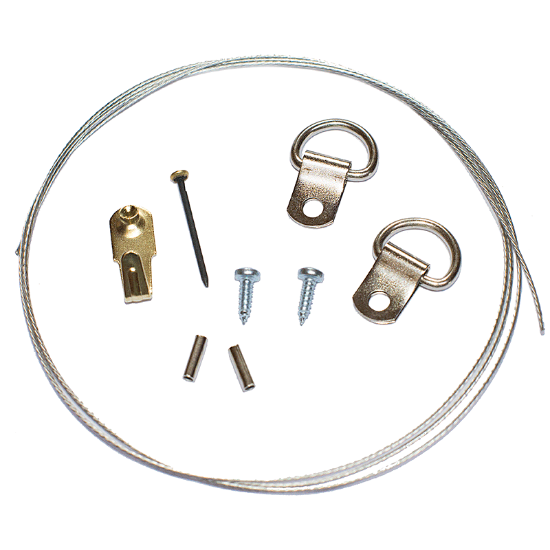 Picture Hanging Kit 3 (Nickel Plated)