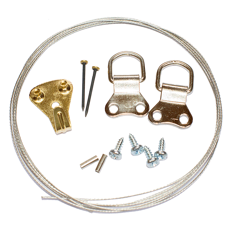 Picture Hanging Kit 4 (Nickel Plated)