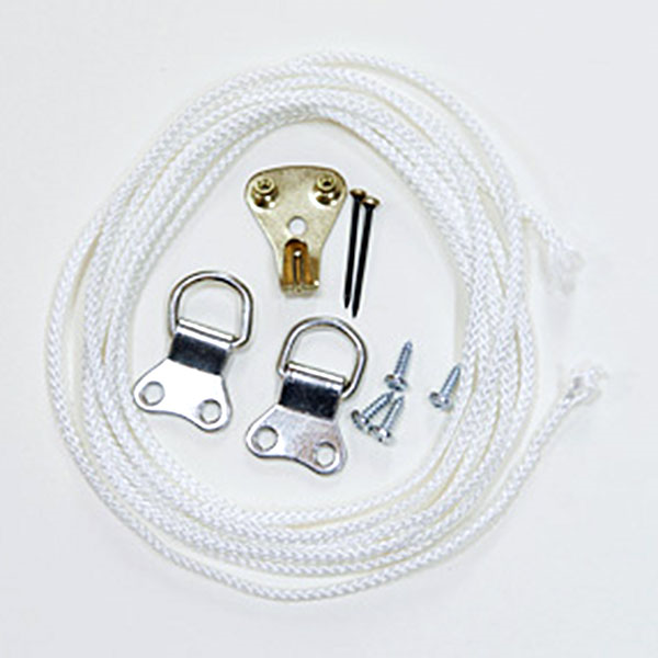 Picture Hanging Kit 6 (Nickel Plated)