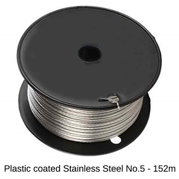 Plastic Coated Wire Stainless Steel (#5/19kg)  - 152m Roll