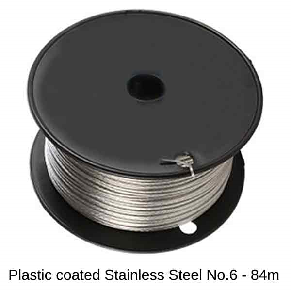Plastic Coated Wire Stainless Steel (#6/24kg) - 84m Roll