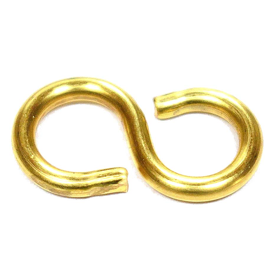 S-Hooks 25mm Brass Plated for Joining Picture Chain