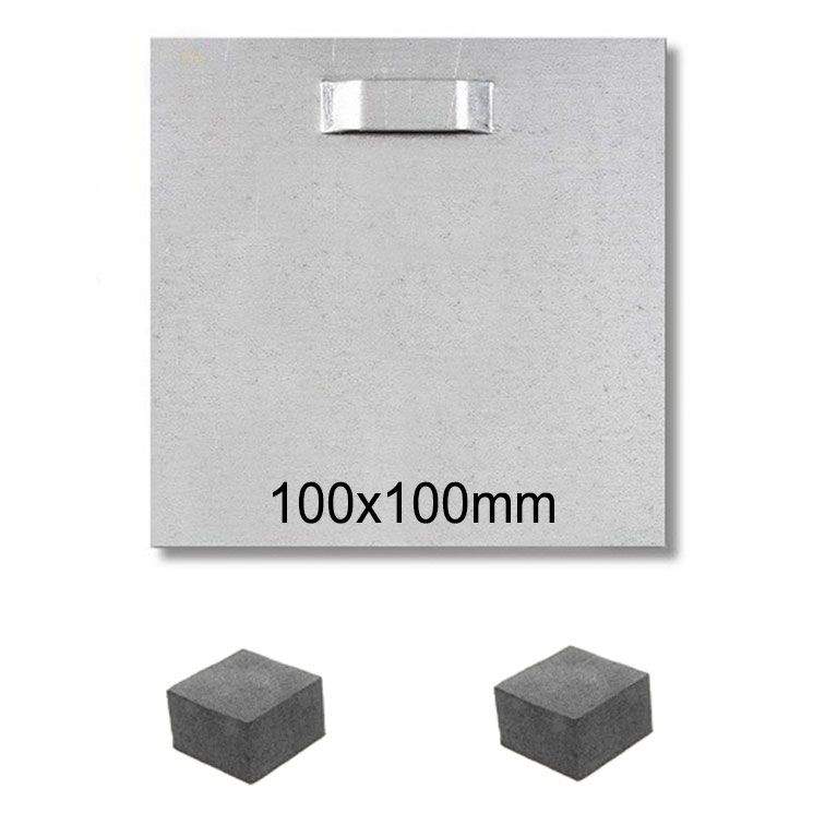 Self Adhesive Steel Hanging Plates for Graphic Panels 100x100mm with Spacer Pads