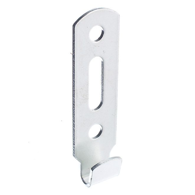 Slotted Wall Hook - Zinc Plated - Narrow