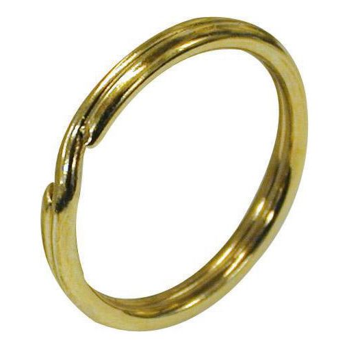 Split Rings (Key Rings) - Brass Plated 13mm
