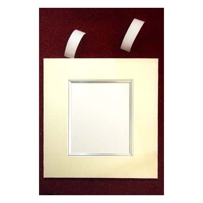 Standard Picture Mount White Core Acid Free 1.4mm With Silver Slip
