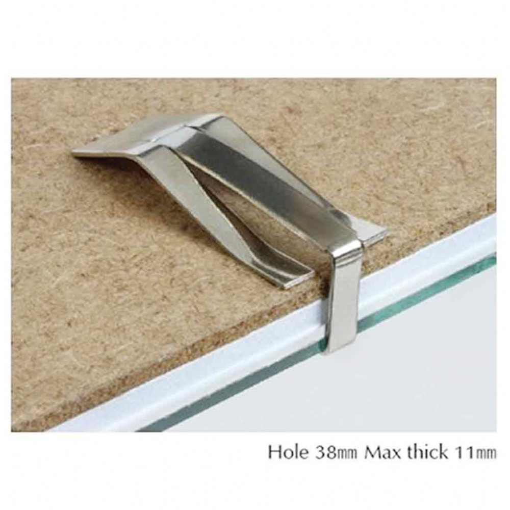 MAX THICKNESS 10mm FIXING EIGHT SWISS D CLIPS FRAMELESS PICTURE MOUNTS