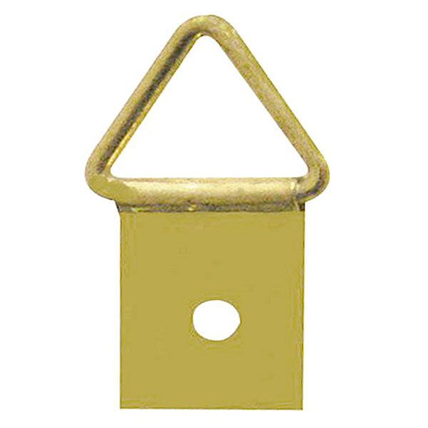 Triangle Hanger 1 Hole, Medium, Size '2' - Brass Plated