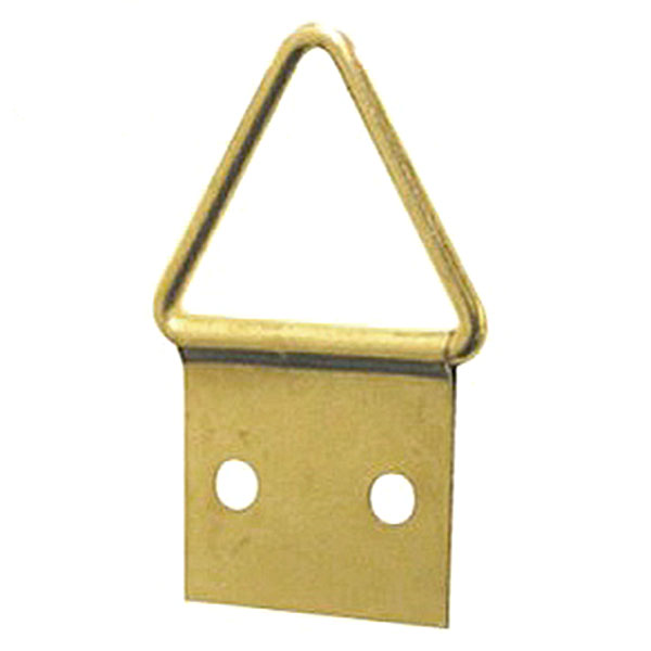 Triangle Hanger 2 Hole, Medium, Size '2' - Brass Plated