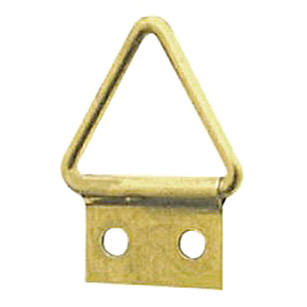 Triangle Hanger 2 Hole, Small, Size '0-S' - Brass Plated