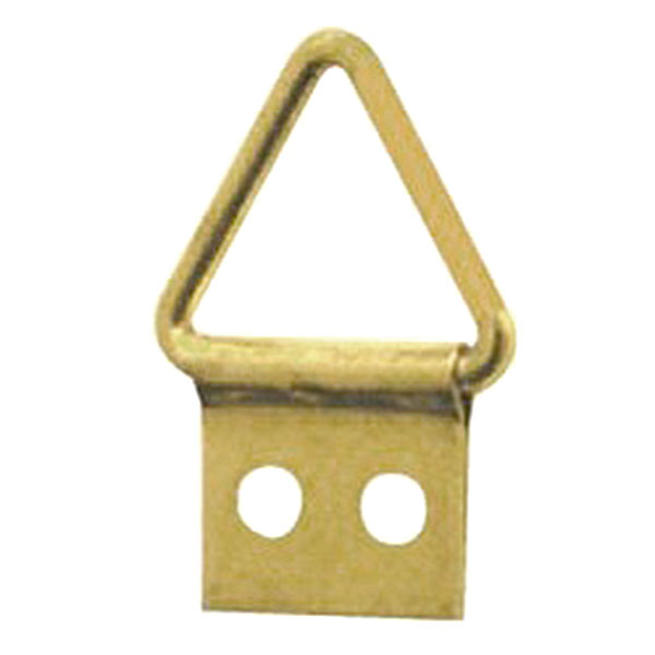 Triangle Hanger 2 Hole, Small, Size '00' - Brass Plated