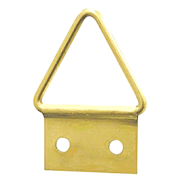 Triangle Hanger 2 Hole, Small, Size '3-S' - Brass Plated