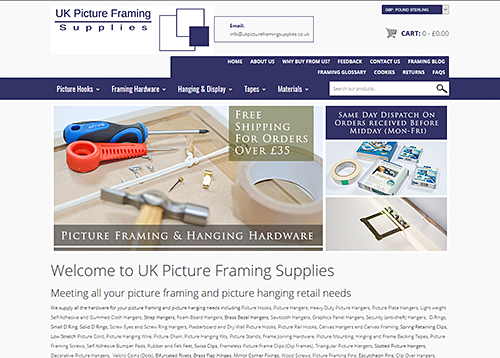 New UK Picture Framing Supplies Website